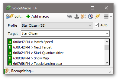 VoiceMacro (Home) - Easy create Macros, activate them with